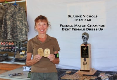 Suanne Nichols- Female Match Champion and Best Female Dress up